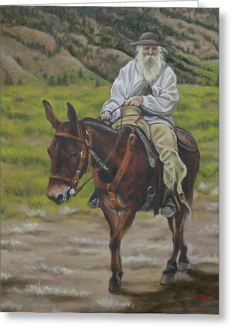 Mule Walk Greeting Card