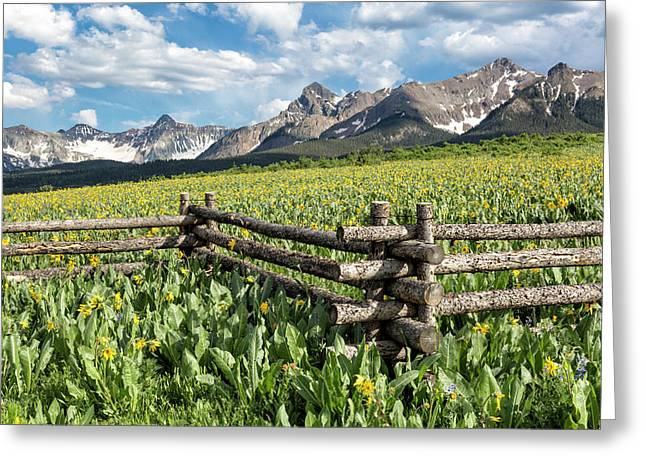 Mule's Ears And Mountains Greeting Card