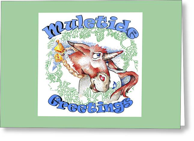 Real Fake News Muletide Greetings Greeting Card