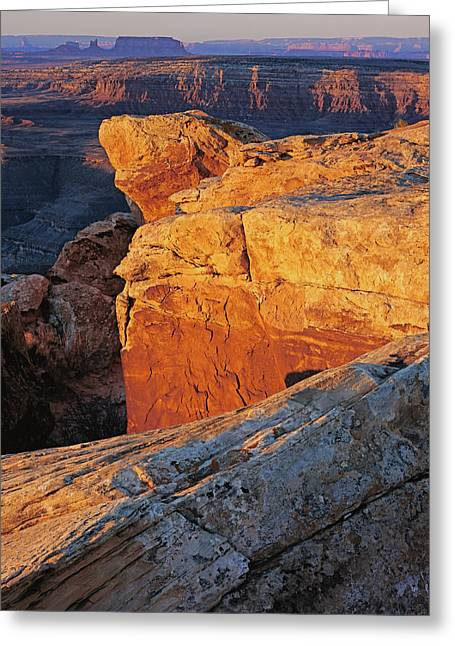 Muley Point Sunrise-v Greeting Card