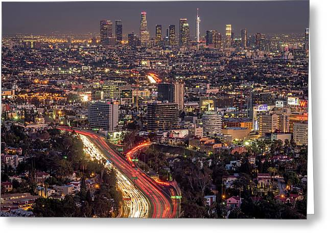 Mulholland Drive View #2 Greeting Card