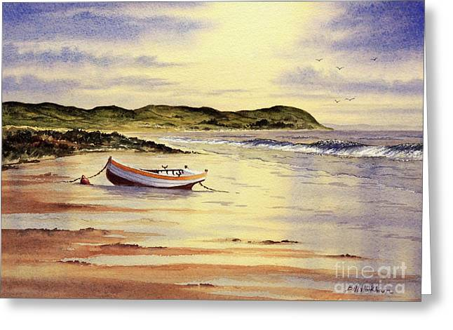 Greeting Card featuring the painting Mull Of Kintyre Scotland by Bill Holkham