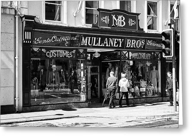 Mullaney Brothers Traditional Irish Gents Outfitters And General Store Sligo Republic Of Ireland Greeting Card by Joe Fox