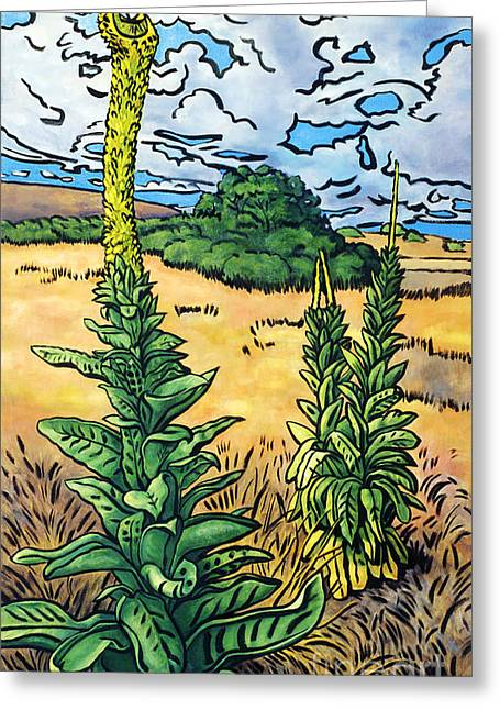 Mullein Greeting Card by Fay Biegun - Printscapes