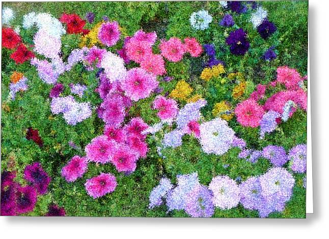 Multi Color Flowers Greeting Card by Ralph Liebstein
