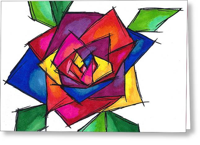 Multi Rose Greeting Card