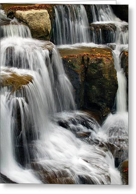 Multi-tiered Cascade  Greeting Card