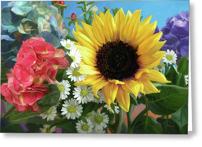 Multicolor Flowers Greeting Card