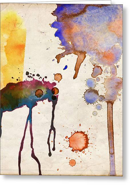 Multicolor Splash Greeting Card