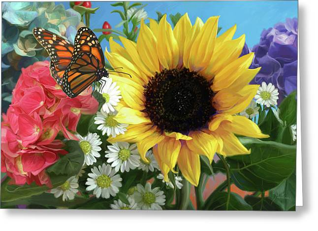 Multicolor With Monarch Greeting Card