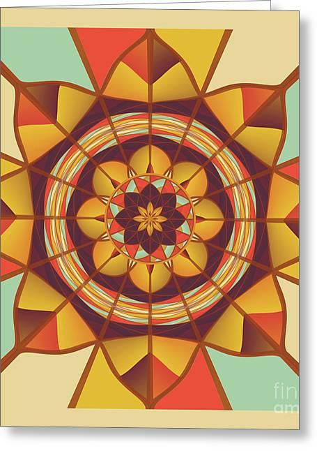 Multicolored Geometric Flourish Greeting Card by Gaspar Avila