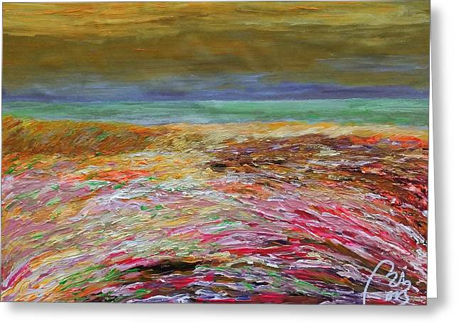 Multicolored Landscape I Greeting Card by Bachmors Artist