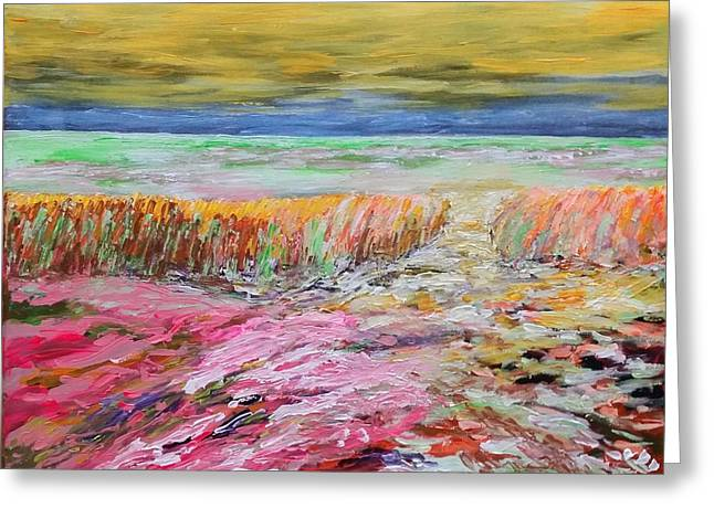 Multicolored Landscape II Greeting Card by Bachmors Artist