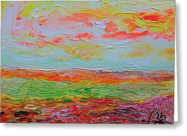 Multicolored Landscape IIi Greeting Card by Bachmors Artist