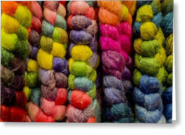 Multicolored Roving Greeting Card by Jean Noren