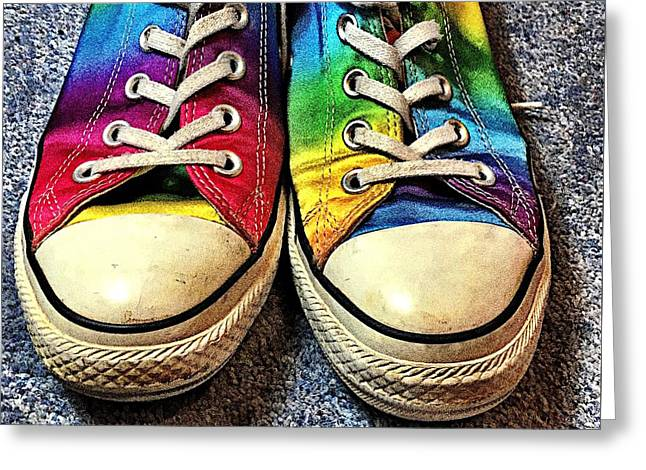 Multicolored Sneakers 1 Greeting Card by Mo Barton