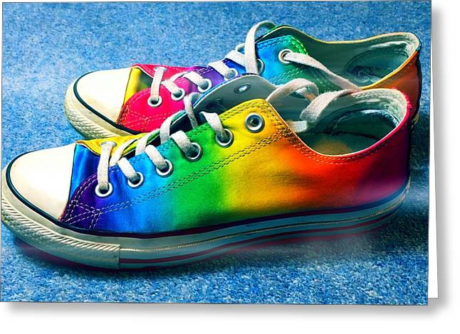 Multicolored Sneakers 2 Greeting Card by Mo Barton