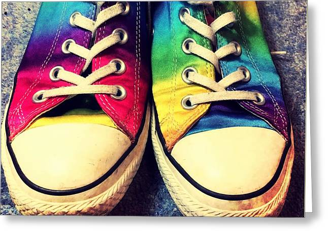 Multicolored Sneakers 3 Greeting Card by Mo Barton