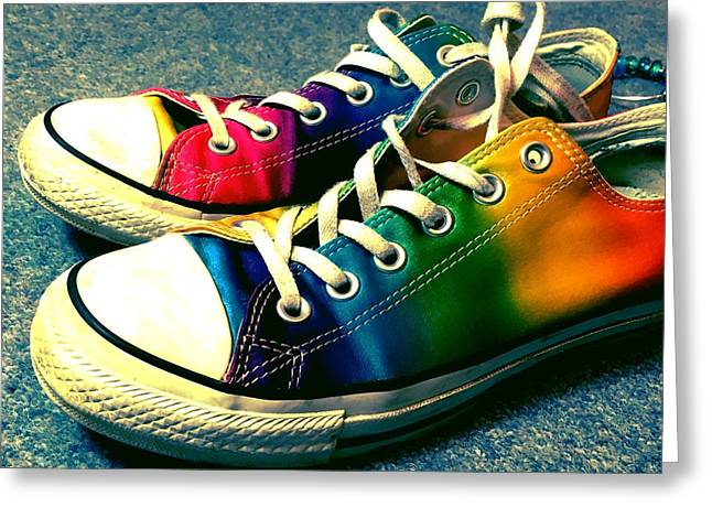 Multicolored Sneakers 5 Greeting Card by Mo Barton