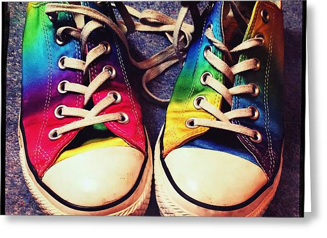 Multicolored Sneakers 6 Greeting Card by Mo Barton