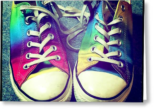 Multicolored Sneakers 7 Greeting Card by Mo Barton