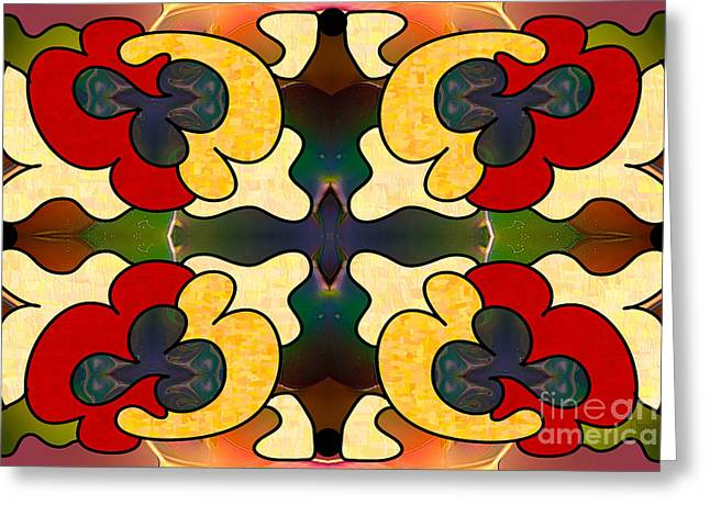 Multidimensional Directions Abstract Art By Omashte Greeting Card by Omaste Witkowski