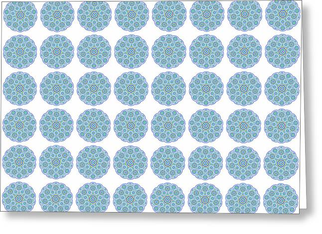 Multiple Mandala Design Greeting Card by Georgiana Romanovna