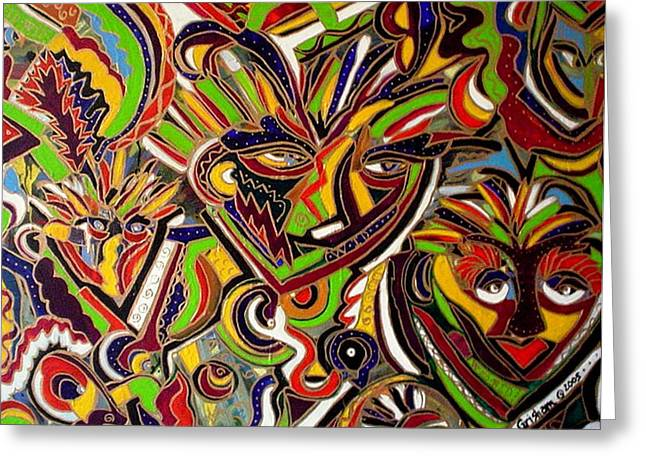 Multiple Personalities Greeting Card by Laura  Grisham