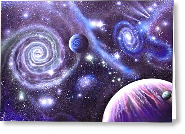 mULTIVERSE 219 Greeting Card by Sam Del Russi