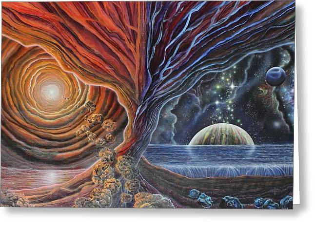 Multiverse 3 Greeting Card by Sam Del Russi