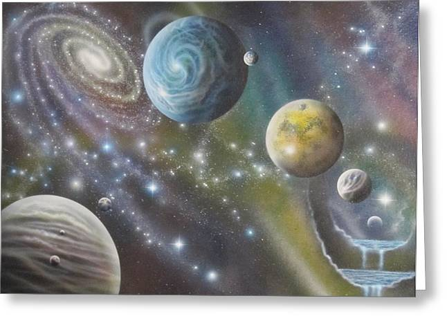 Multiverse 62 Greeting Card by Sam Del Russi