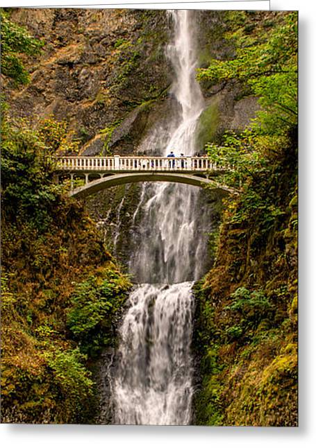Greeting Card featuring the photograph Multnomah Falls  by Claudia Abbott