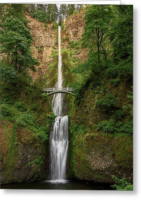 Greeting Card featuring the photograph Multnomah Falls by John Hight