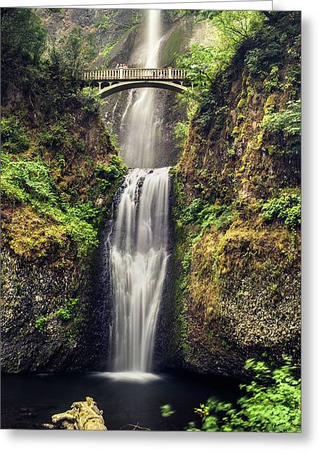 Multnomah Falls Lower Greeting Card