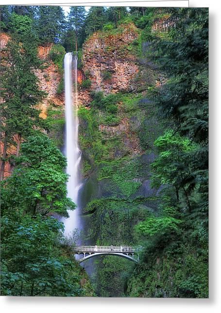 Multnomah Falls Portland Oregon Greeting Card