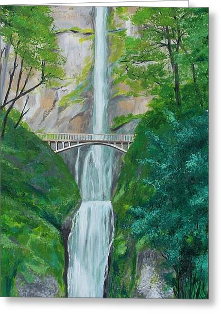 Multonomah Falls Greeting Card