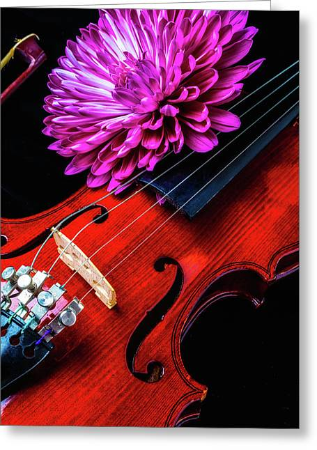 Mum And Violin Greeting Card