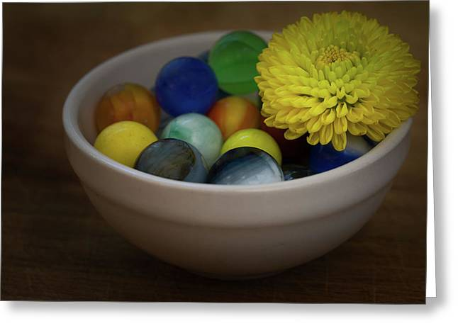 Mum In Marbles Greeting Card by Denise McKay