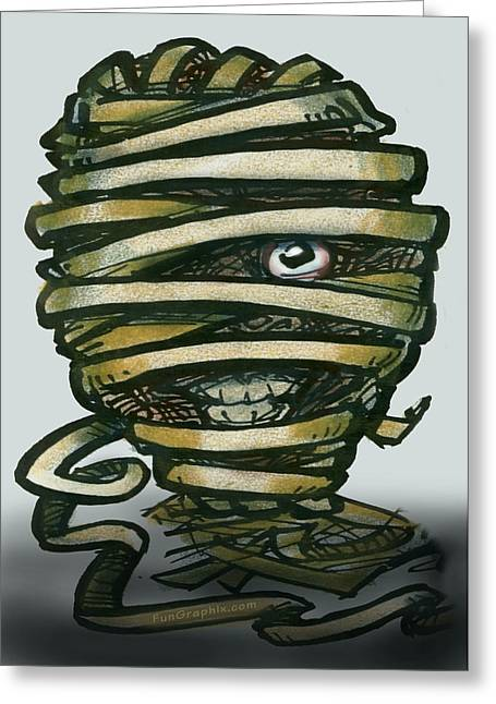Mummy  Greeting Card by Kevin Middleton