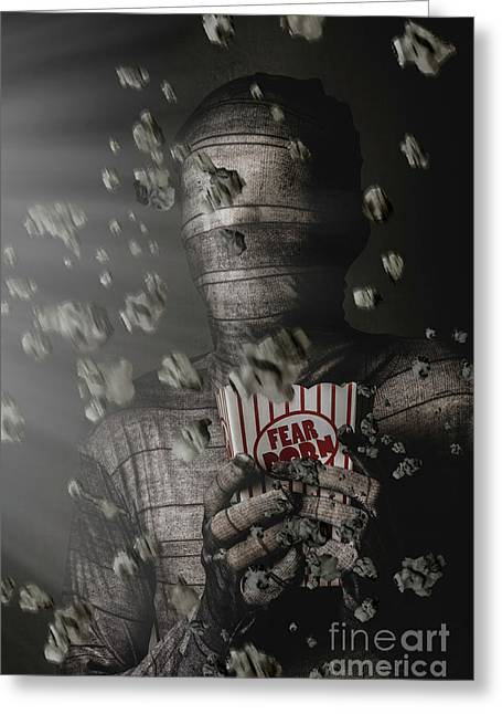 Mummy Wrapped Up In Fear Porn News Greeting Card by Jorgo Photography - Wall Art Gallery