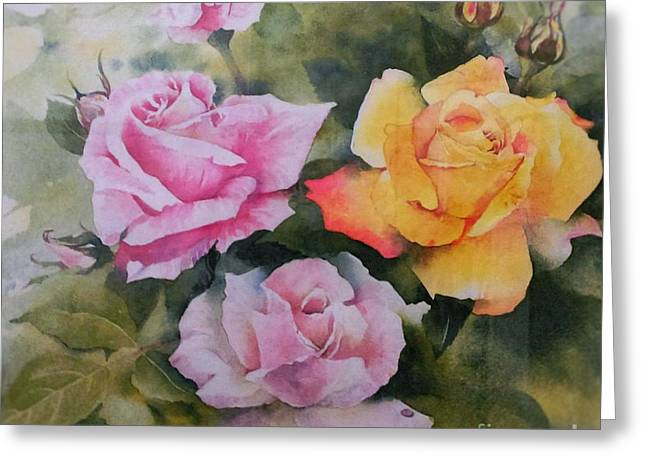 Mum's Roses Greeting Card by Sandra Phryce-Jones