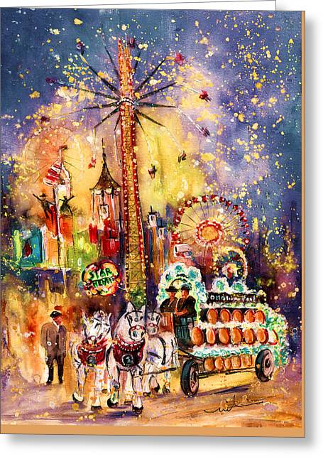 Munich Authentic Greeting Card by Miki De Goodaboom