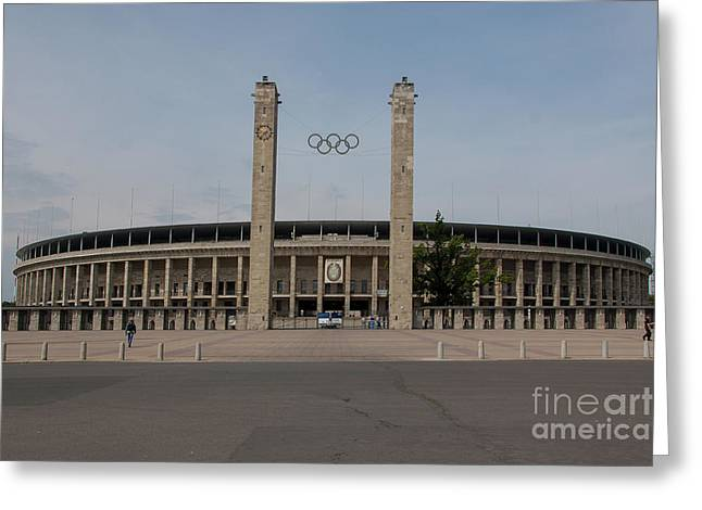 Berlin Olympic Stadium Greeting Card by Nichola Denny