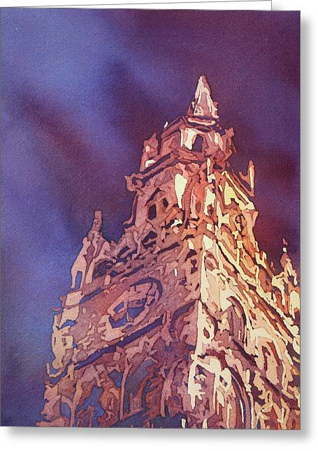 Munich Rathaus Greeting Card by Jenny Armitage