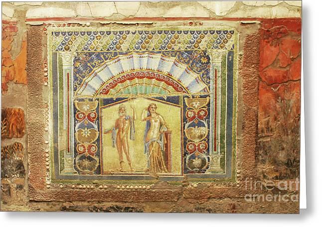 Mural At Hercaluneum Greeting Card