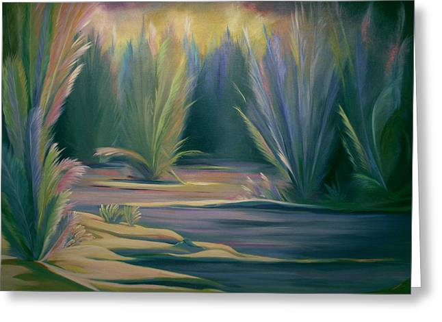 Mural Field Of Feathers Greeting Card