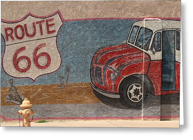 Mural On Historic Route 66 Greeting Card