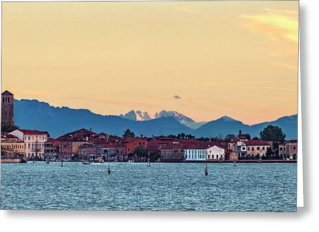 Murano Sunrise Greeting Card by Art Ferrier