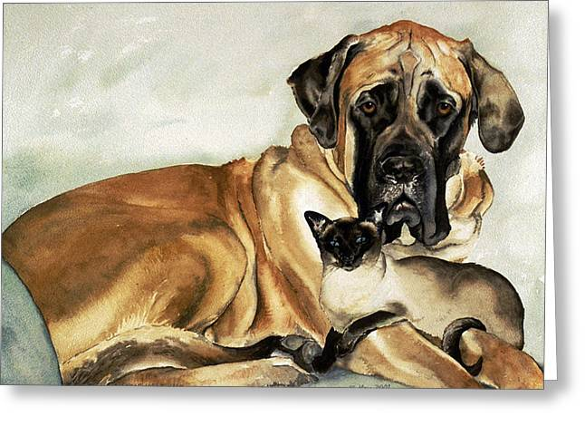 Murphy And Cody Greeting Card by Eileen Hale