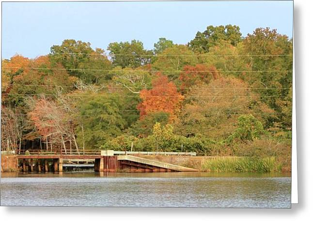 Murphy Mill Dam/bridge Greeting Card